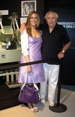 Carrie Puchkoff and Dann Cahn at the Lucy-Desi Museum in Jamestown, New York. Photo courtesy of Desilu, too, LLC