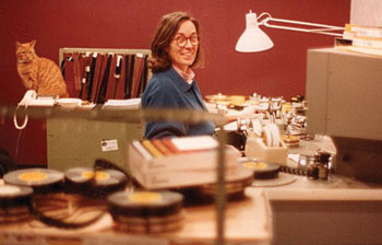 Carol Littleton editing White Palace (1990) on location with Beaufort.