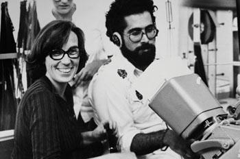 Carol Littleton with assistant editor Gib Jaffe on The Mafu Cage in 1978. Photo courtesy of Karen Arthur