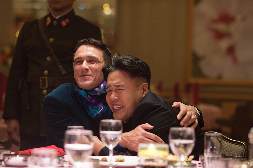 Dave Skylark (James Franco) and Kim Jong-un (Randall Park) in The Interview. Courtesy Columbia Pictures.
