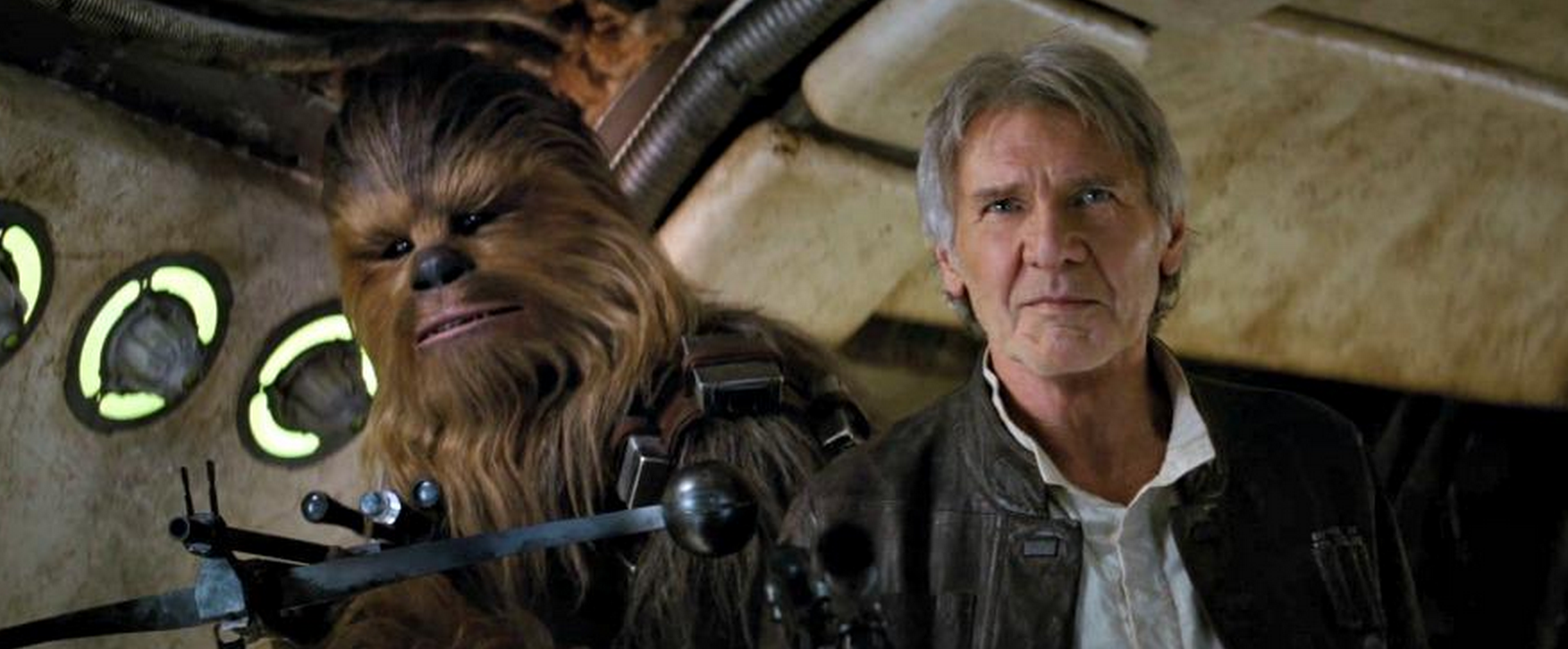 Chewy and Han Solo return in Star Wars: The Force Awakens. Courtesy of Disney/Lucasfilm.