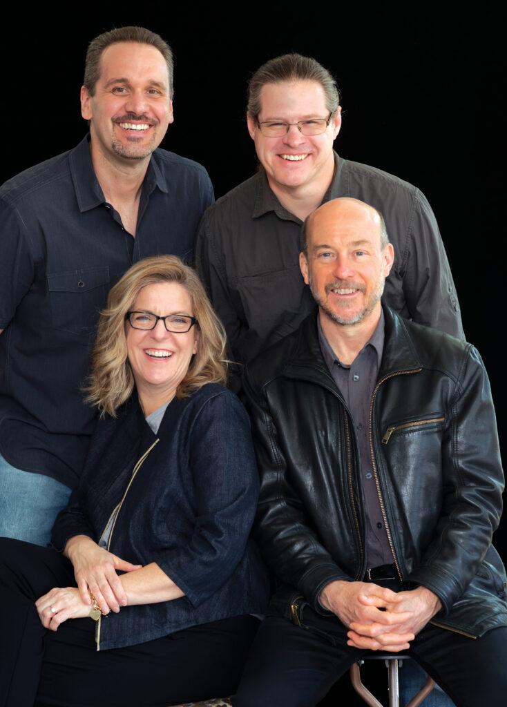 Clockwise from top left: Darren Hallihan, Jeremy Peirson, Dane Davis and Lisa Trulli. Photo by Martin Cohen