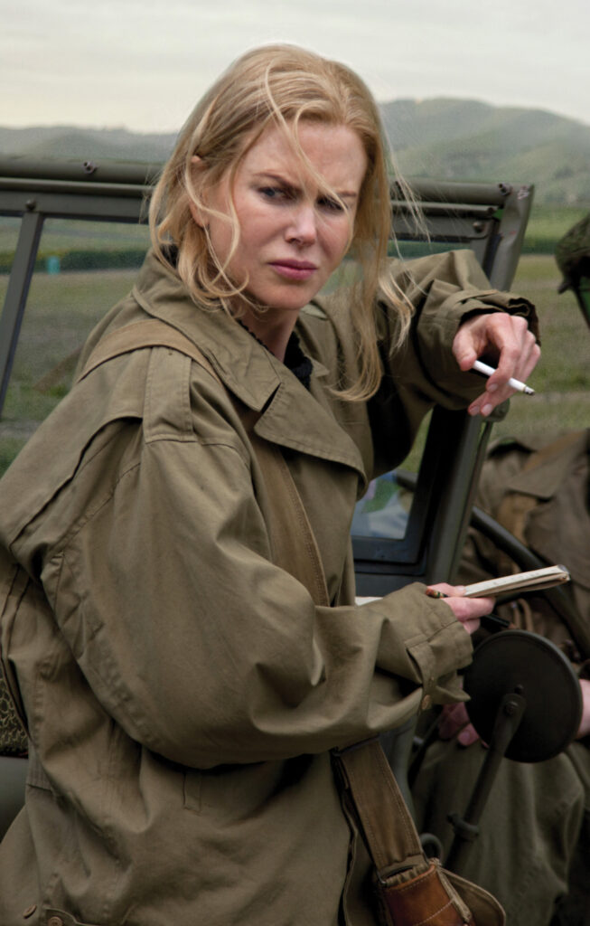 Nicole Kidman as Martha Gellhorn. Hemingway & Gellhorn HBO/Photofest