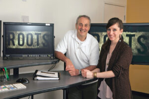 <em>Neil Mandelberg, editor, and Victoria Grimsley, assistant editor,</em> Night Three.