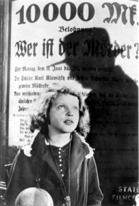 M (1931 Germany) Directed by Fritz Lang Shown: Inge Landgut