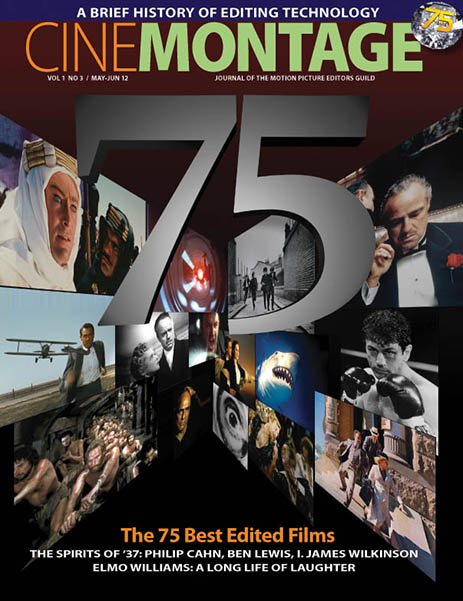 The Guild's 75th anniversary issue of CineMontage Magazine