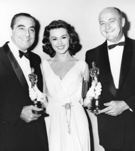 Editing and Special Effects includes sources such as the Academy of Motion Picture Arts and Sciences' oral history with Ralph E. Winters, left, shown with fellow editor John D. Dunning being presented with their Oscars for editing Ben-Hur (1959). Bison Archives