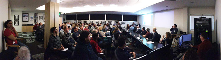 The Editors Guild's Dede Allen Seminar Room was packed for the recent VFX Workflow panel.