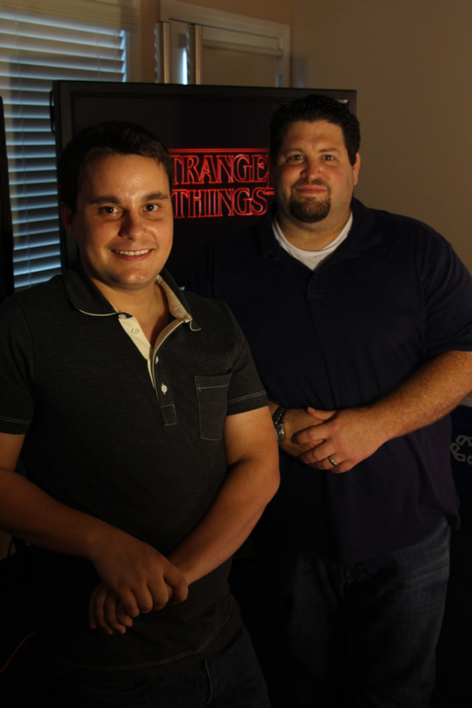 Assistant editor Nathaniel Fuller, left, and picture editor Dean Zimmerman