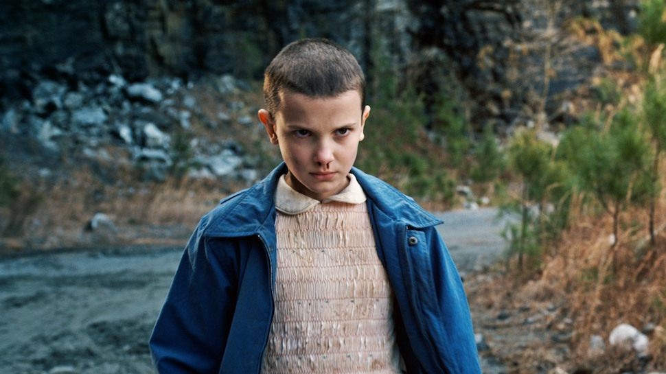 Eleven from 'Stranger Things.' courtesy of NETFLIX