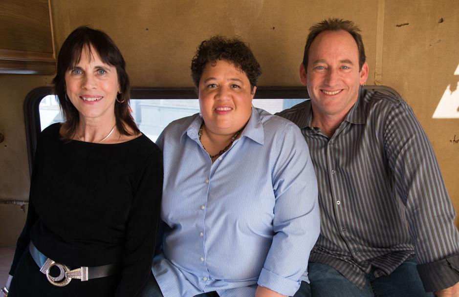 Editors Lynne Willingham, left, Kelley Dixon and Skip Macdonald.