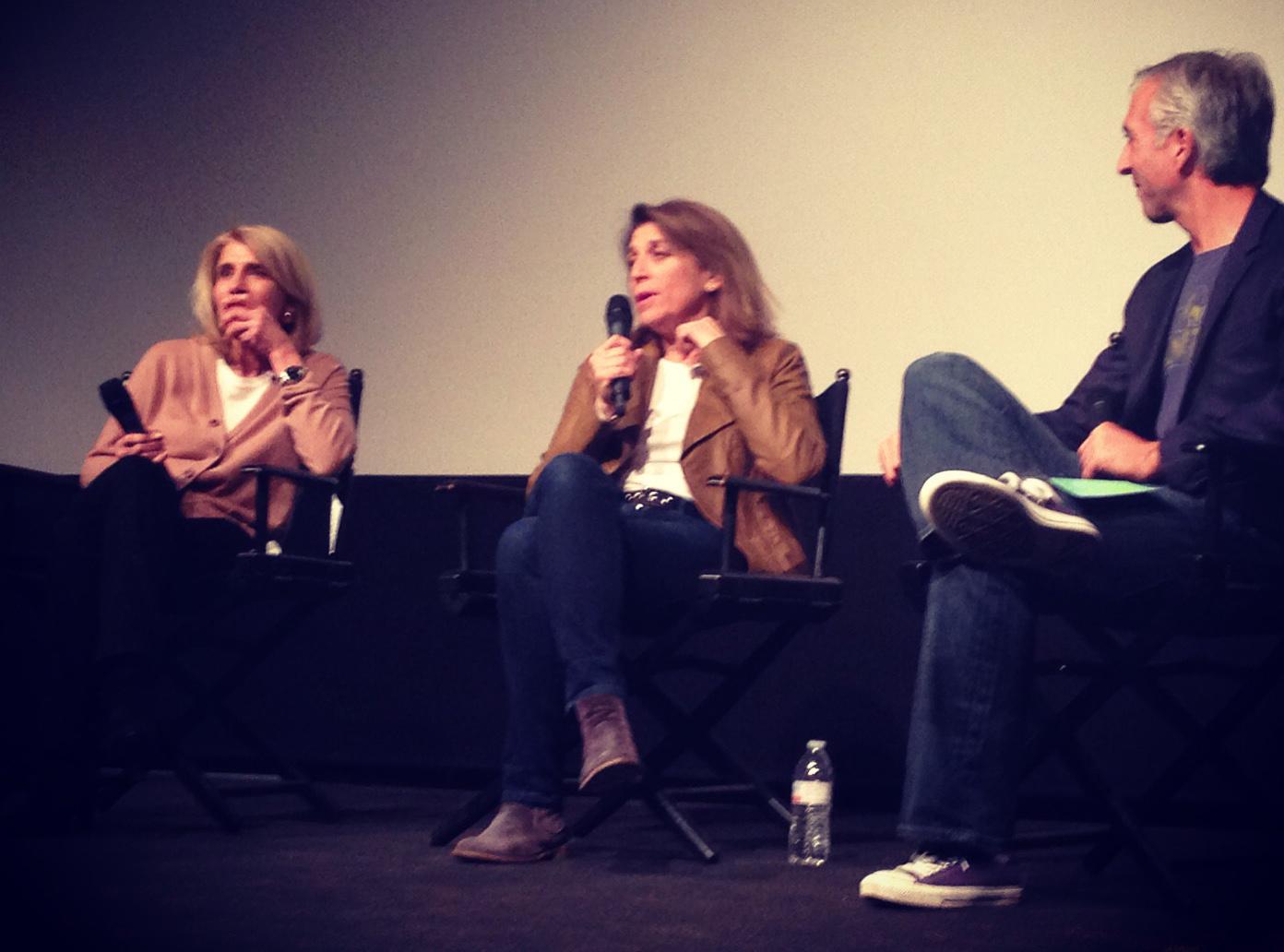 Mary Jo Markey, left, Maryann Brandon and Scott Manz of Access Hollywood. Photo by Mary De Chambres.