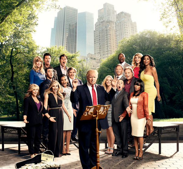 Trump the grand maestro: A promotional photo for The Celebrity Apprentice Courtesy NBC.
