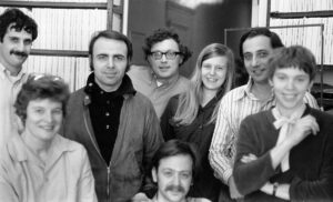In the Alice's Restaurant cutting room, from left, Richard Marks, Dede Allen, Frank Mazzola, Jerry Greenberg, Joanne McGarrity Burke, Stephen Rotter, Kathie Amatniek Sarachild and Dick Goldberg (seated) in 1969.