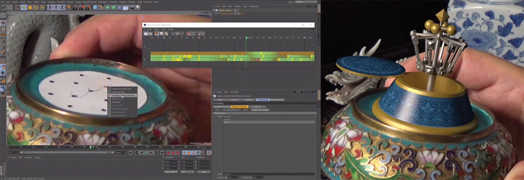 Cinema 4D R18's new Object Tracker lets you affix 3D models to moving objects in your footage.