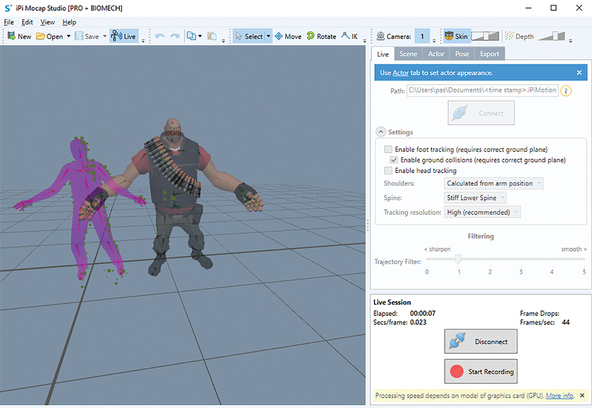 Motion Capture for the Masses – iPi Soft Does Away with the