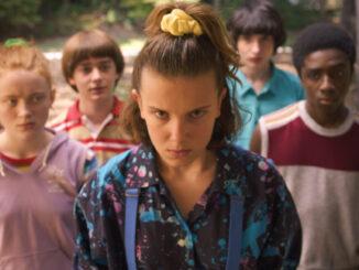 The 'Stranger Things' cast: Sadie Sink, Noah Schnapp, Millie Bobby Brown, Finn Wolfhard, Caleb McLaughlin.