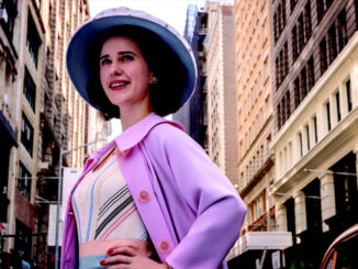 "Rachel Brosnahan in ""The Marvelous Mrs. Maisel."""