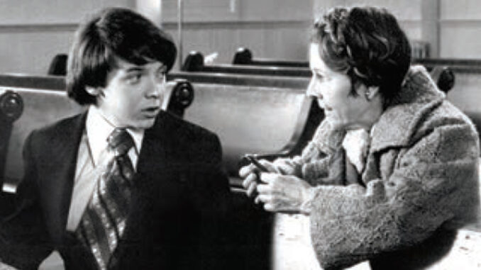 "Ruth Gordon and Bud Cort in ""Harold and Maude."" PHOTOFEST"