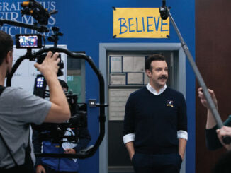 "Put me in, Coach: Jason Sudeikis on the set of ""Ted Lasso."""