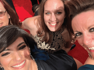 "TOGETHER: Margie O'Malley (left), Ronni Brown, Kim Patrick and Bonnie Wild at the 2018 primetime Emmys, nominated for ""Star Wars Rebels."" PHOTO: SKYWALKER"