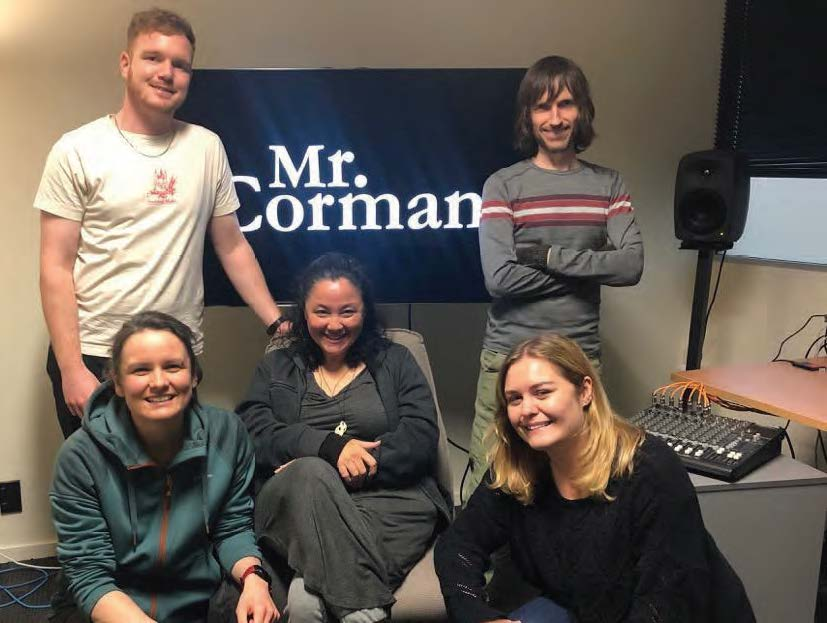 Sotelo (center) with her New Zealand editorial team. Greg Jennings, back left, and Jonno Woodford-Robinson. Front: Amanda Mulderry, left, and Jessica O'Donoghue.